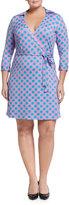 Julie Brown Milo Diamond Print Wrap Dress, Blue Daiquiri, Plus Size