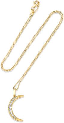 Andrea Fohrman 18k Diamond Crescent Moon Necklace