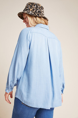 Cloth & Stone Monica Chambray Plus Buttondown By in Blue Size 2 X