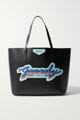 Givenchy Wing Printed Leather Tote - Black