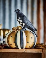 Mackenzie Childs MacKenzie-Childs Courtly Check Crow on Pumpkin