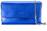 Casadei logo embossed shoulder bag - women - Satin/Kid Leather - One Size