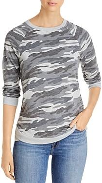 Andrew Marc Camo Print Sweatshirt