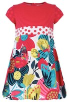 Catimini Butterfly & Floral Print Dress