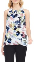 Vince Camuto Women's Garden Expressions Sleeveless Crepe Blouse