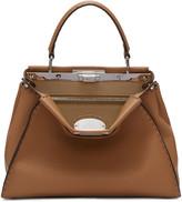 Fendi Brown Regular Selleria Peekaboo Bag