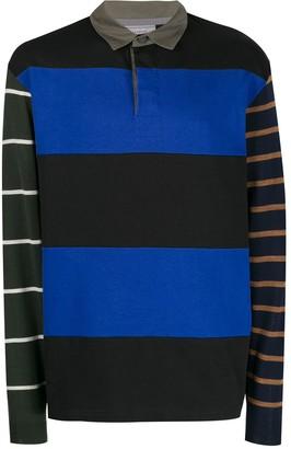 Lanvin Striped Panelled Polo Shirt