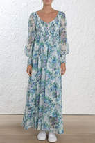 Zimmermann Whitewave Shirred Maxi