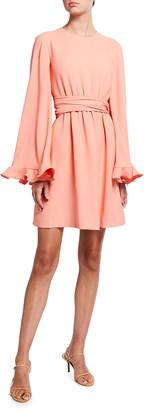 Giambattista Valli Flutter Sleeve Fit-&-Flare Dress