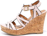 Qupid Sea Star Blush Wedge Sandals