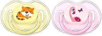 Philips SCF169/26 Avent Classic Soother 0-2 Months, Pack of 2 (Tiger/Flamingo)
