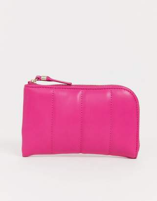French Connection Edie padded zip ladies' wallet-Pink