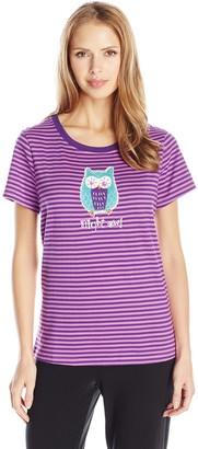 Hatley Little Blue House by Women's Night Owl Short Sleeve Pyjama Top