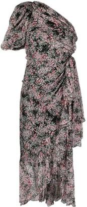Giambattista Valli One-Shoulder Floral Maxi Dress
