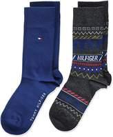 Tommy Hilfiger Boy's TH Fairisle 2P Calf Socks,pack of 2