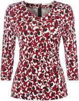 HUGO BOSS Epana leopard print jersey top