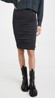 Alice + Olivia Melanie Fitted Shirred Skirt