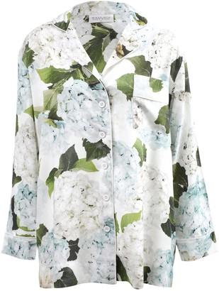 Wallace Cotton Blue Hydrangea Pj Shirt