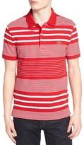 Lacoste Men's Stripe Pique Polo