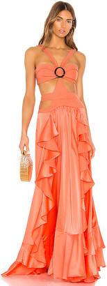 PatBO Cutout Maxi Dress