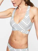 Athleta Chevron Reversible Wrap Bikini