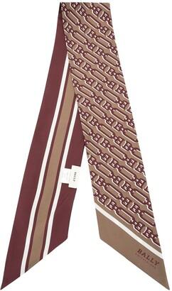 Bally Print Bandeau Silk Scarf