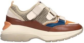 Lola Cruz Sneakers In Brown Leather