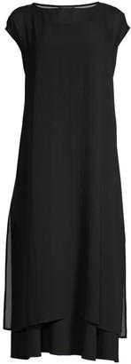 Eileen Fisher Sheer Cap Sleeve Tunic