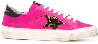 Golden Goose May leopard-print star sneakers