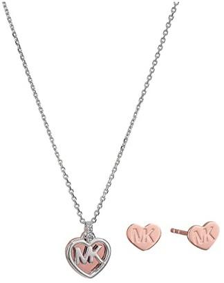 Michael Kors Sterling Silver Slider Box Set (Silver/Gold) Jewelry Sets