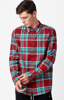 Diamond Supply Co. Supply Plaid Flannel Long Sleeve Button Up Shirt