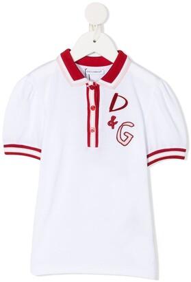 Dolce & Gabbana Kids Embroidered Polo Shirt