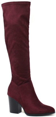 Yoki Spade 17 Women's Over-The-Knee Stretch Boots