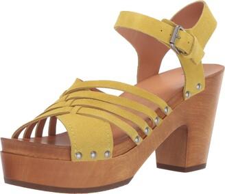 Frye Women's Greta Woven Clog Heeled Sandal