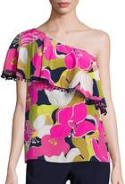Trina Turk Women's Kahe One-Shoulder Floral Print Top