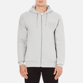 Wood Wood Men's Leonard Zipped Hoody Grey Melange