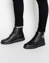 Fred Perry Northgate Leather Brogue Boots - Black