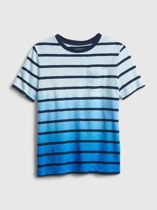 Gap Kids Stripe Dip-Dye T-Shirt
