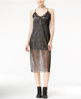 SHIFT Juniors' Metallic Lace-Trim Dress, Only at Macy's