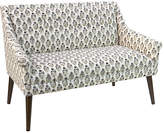 One Kings Lane Bella Tufted Settee - Taupe Floral
