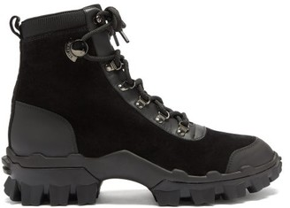 Moncler Helis Trek-sole Leather And Suede Boots - Black