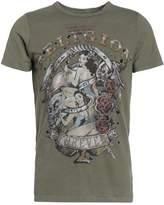 True Religion Pinup Print Tshirt Dusty Olive