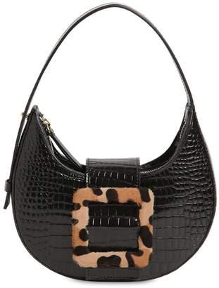 Les Petits Joueurs Cindy Croc Embossed Leather Bag