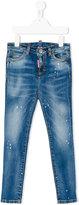 DSQUARED2 distressed skinny jeans - kids - Cotton/Spandex/Elastane - 4 yrs