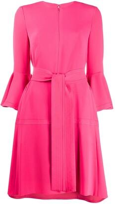 Talbot Runhof Torianna flared sleeve dress