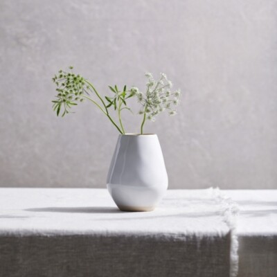Thumbnail for your product : The White Company Albury Small Ceramic Vase, White, One Size