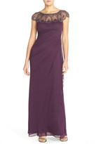 Xscape Evenings Ruched Jersey Gown (Regular & Petite)