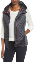 MICHAEL Michael Kors Petite Women's Mixed Media Hooded Vest