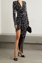 Alexandre Vauthier - Gathered Crystal-embellished Stretch-jersey Gown - Silver