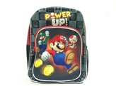 Nintendo Backpack Super Mario Black Power Up School Bag New 405884